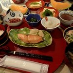プチホテル コリンシアン - 朝食の膳;設えが素敵ですね(^^) @2016/09/19