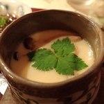 プチホテル コリンシアン - 夕食③;百合根の茶碗蒸.滑らかです @2016/09/18