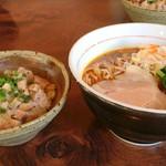 酒麺房 さの屋 - 大好きだった辛醤油ラーメン+小チャーシュー丼ともお別れ(;;)