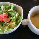 うまいもの工房 ザ・テラス - セットのサラダ、スープ