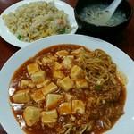 香酒縁 - 麻婆豆腐あんかけ焼きそば:780円