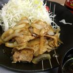 味乃 大久保 - 豚バラ生姜焼き定食(161002)