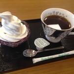 ミルクキッチン 燦燦 - ミニソフトクリーム、コーヒー