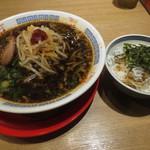麺屋 ひしお 和歌山駅前店 - しらす丼セット 880円 (2016.10)