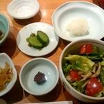 天ぷら 左膳 - 本日の小鉢、お食事セット