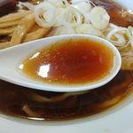 56865720 - 四種の魚介醤油らーめん スープ