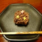 懐石 辻留 - 菓子は栗きんとん