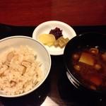 懐石 辻留 - 【食事】松茸御飯、留椀、香の物