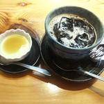 お季楽 でめきん魚 - 最後は、抹茶のパンナコッタとアイスコーヒで 幸せでした~