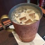 上島珈琲店 - 冷たい無糖ミルクコーヒー(^∇^)♪