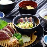 明神丸 - これやき定食(塩たたき・たれたたき)