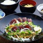 明神丸 - 鰹のタレたたき定食
