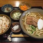 真壁ちなー - そばセット(中)1050円