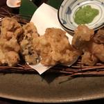 三代目網元 魚鮮水産 - 松茸入りキノコの天ぷら