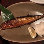 三代目網元 魚鮮水産 - 季節、秋刀魚の塩焼き