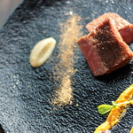 宮崎県 黒毛和牛の炭火焼きと旨味山椒ソース