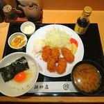 味喜庵 - ランチのカキフライ定食♥ (*≧∀≦*)