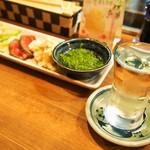 桃谷温酒場 - 前菜盛合せ & 冷酒