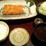 さき亭 - 黒豚ヒレカツ膳