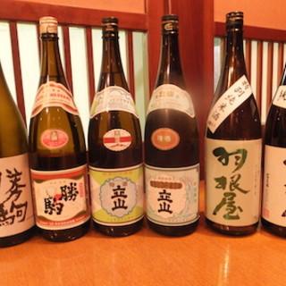 富山の希少な日本酒取り揃えております