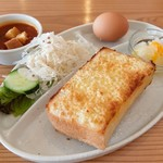 フィールイージーカフェ - アーモンドトーストのセット