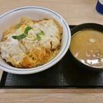 かつや - 平日限定ランチ(カツ丼(梅)+豚汁)500円