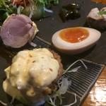 小林 地鶏の里 - 南蛮・煮玉子(地鶏の里スペシャル)