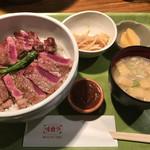 56911534 - ビーフステーキ丼(大盛)