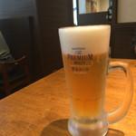 肉餃子専門店 THE GYO - ルービー焼き餃子セットのビール