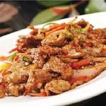 ウイグル料理EPENDI - ラム肉のウイグル風炒めーカザンカワプ