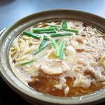 まゆみの店 - カレー鍋焼きラーメン900円