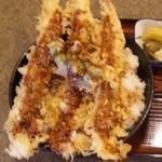 天ぷら桂 - 海老天丼(アップ)