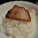 Chikuen - 叉焼が1枚のったご飯