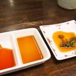 平野屋精肉店 - ステーキのソースは3種類