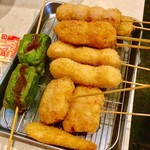 串カツ田中 - トマト・うずら・豚肉など