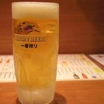 とり金本舗 - 2016年9月 生ビール