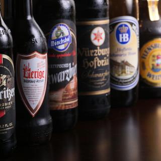 60種類以上のドイツビールはお好みに合わせてご用意できます