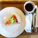 ラモ フルータス カフェ - フラワータルトのセット