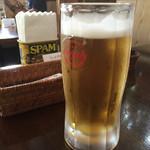 ハナホウ - 生ビール550円