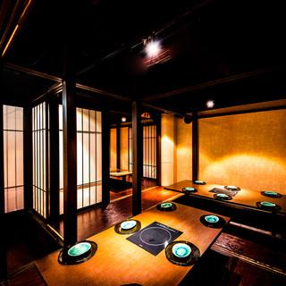 京町風の趣ある宴会向け掘りごたつ個室席多数◎