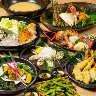 《季節の旬鮮魚を味わう》料理全7品コース2000円~♪