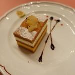 ピッツェリア・サバティーニ - 洋梨とキャラメルのムース