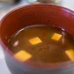 ステーキ&ワイン 大澤 - 豆腐(とうふ)未醤汁(みそしる)