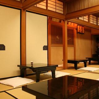 お座敷にテーブルを導入◇ご年配の方にもご利用頂きやすい空間