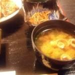 56953735 - 味噌汁と小鉢のきんぴらごぼう