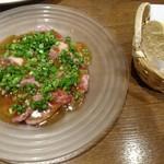 Sekihara pasta&wine - 馬肉のカルパッチョ(ニンニクソース)