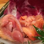 極ダイニング清水 - 赤貝のお刺身 ぷりぷり