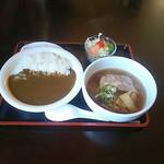倖せ - 料理写真:カレー丼とラーメンセット