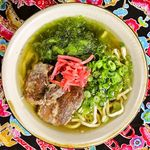 沖縄食堂 瀬戸海人 - あっさり和風ダシのソーキそば。トロトロの軟骨ソーキが美味しい
