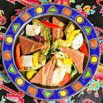 沖縄食堂 瀬戸海人 - 焼きアボカド&SPAM&チーズ